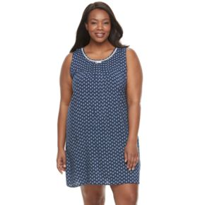 Plus Size Croft & Barrow® Pajamas: Vineyard Villa Sleeveless Nightgown