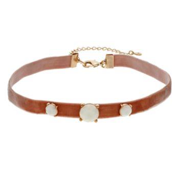 LC Lauren Conrad White Stone Stretch Choker Necklace