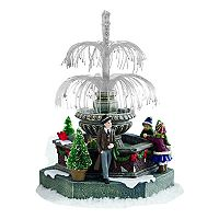 St. Nicholas Square® Village Fiber-Optic Fountain