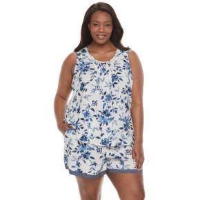 Plus Size Croft & Barrow® Pajamas: Vineyard Villa Tank & Boxer Shorts PJ Set