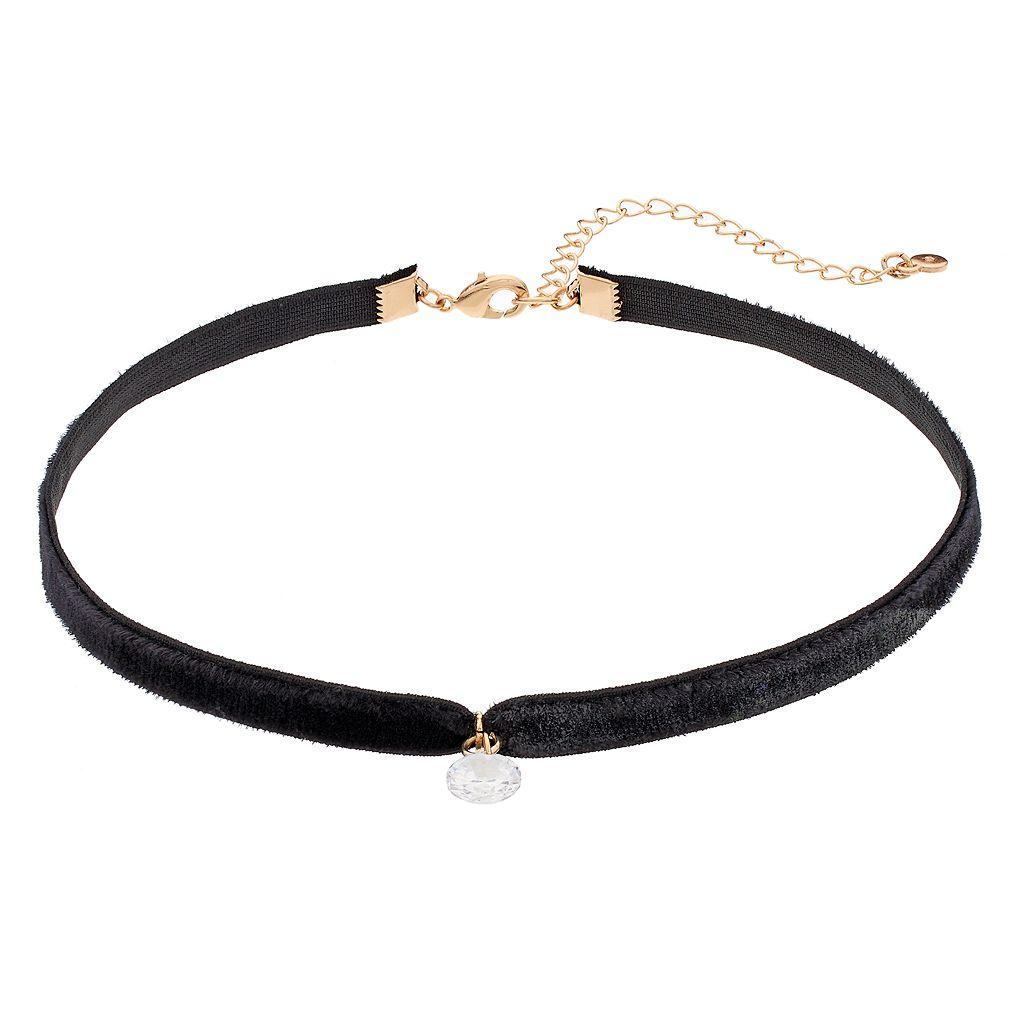 LC Lauren Conrad Cubic Zirconia Stretch Choker Necklace