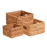 Honey-Can-Do Set of 3 Hyacinth Storage Basket Set