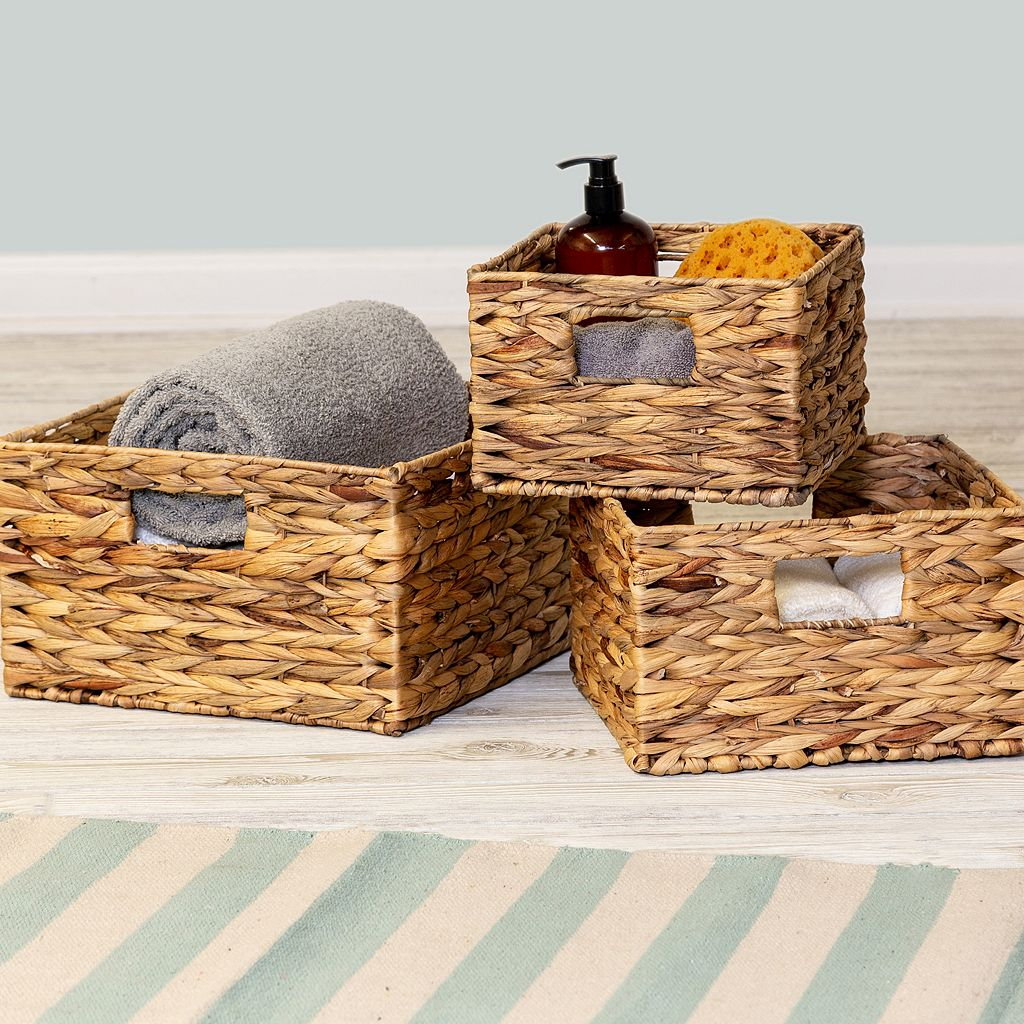 Honey-Can-Do 3-piece Woven Nesting Basket Set