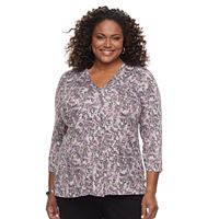Plus Size Dana Buchman Release Pleat Top