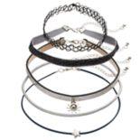 Mudd® Starburst, Star & Tattoo Choker Necklace Set