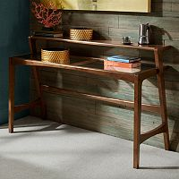 INK+IVY Rocket 2 tier Glass Top Console Table
