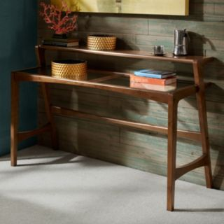 INK+IVY Rocket 2-Tier Glass Top Console Table