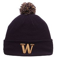 Adult Zephyr Washington Huskies Pom Knit Beanie