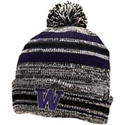 Adult Zephyr Washington Huskies Titanium Knit Beanie