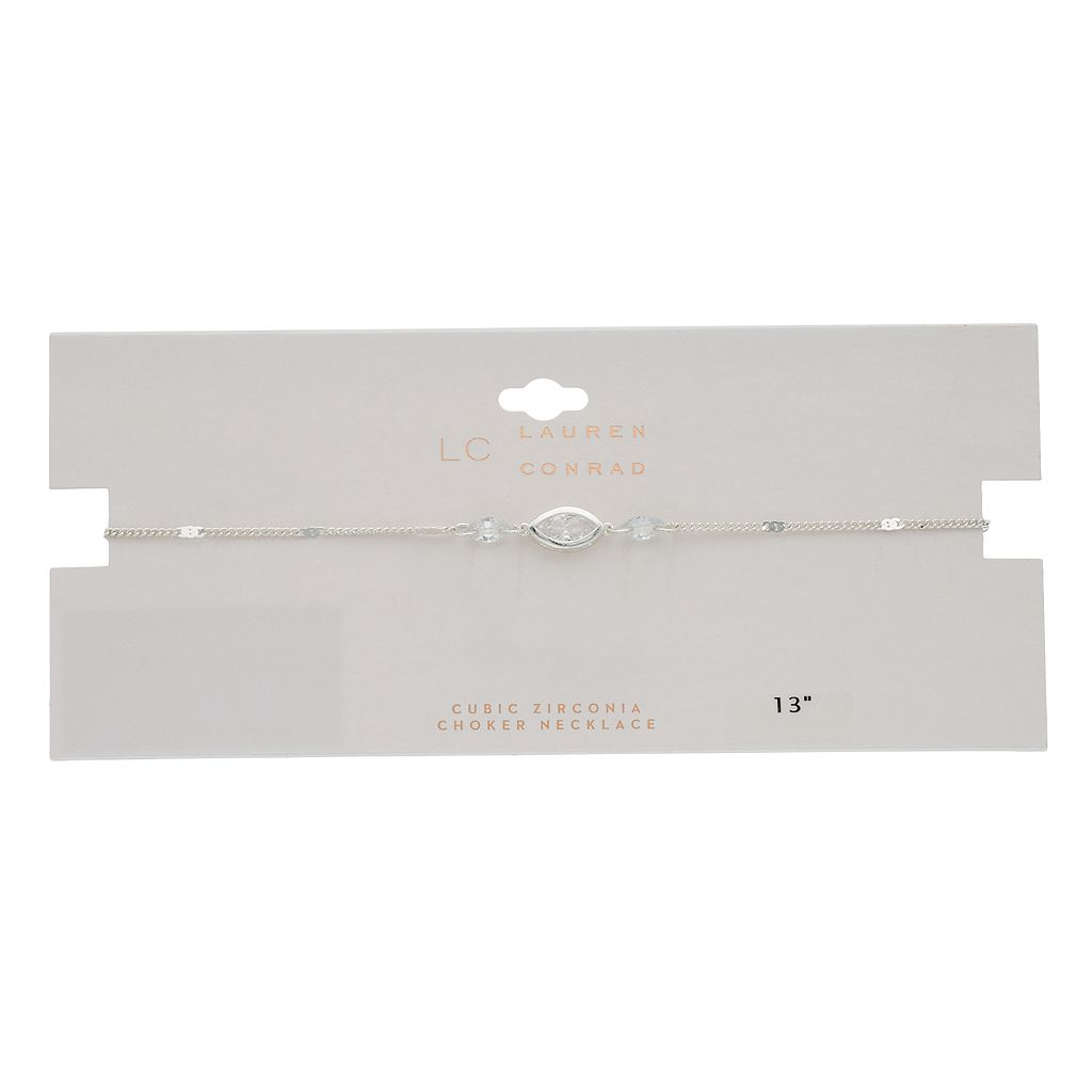 LC Lauren Conrad Cubic Zirconia Marquise Choker Necklace