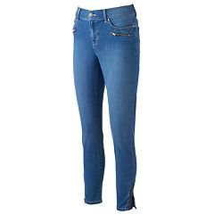 Women's Juicy Couture Flaunt It Zipper Accent Midrise Skinny Jeans