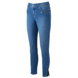 Women's Juicy Couture Flaunt It Zipper Accent Midrise Skinny Jeans