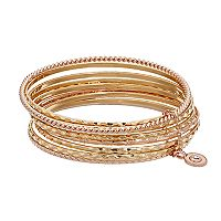 Jennifer Lopez Two Tone Multi Row Bangle Bracelet