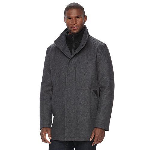 Men's Andrew Marc Wool-Blend Car Coat