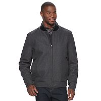 Men's Andrew Marc Wool-Blend Bomber Jacket