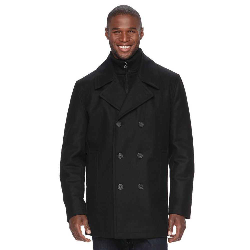 Andrew Marc Wool-Blend Peacoat