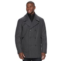 Men's Andrew Marc Wool-Blend Peacoat