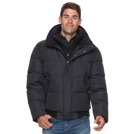 Men's AM Studio by Andrew Marc Down Faux-Fur Hooded Bomber Jacket