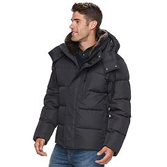Men's AM Studio by Andrew Marc Down Faux-Fur Hooded Jacket