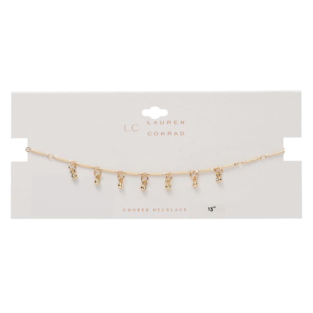 LC Lauren Conrad Shaky Bead Choker Necklace