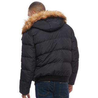 Big & Tall Andrew Marc Clermont Faux-Fur Bomber Jacket