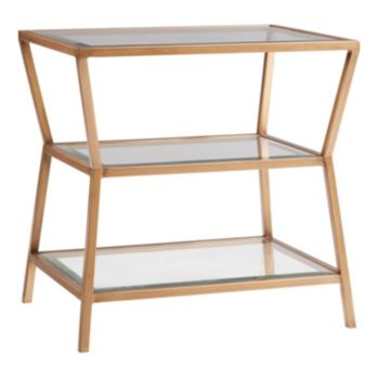Madison Park Zoey Gold Finish End Table
