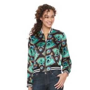 Women's WDNY Black Paisley Bomber Jacket