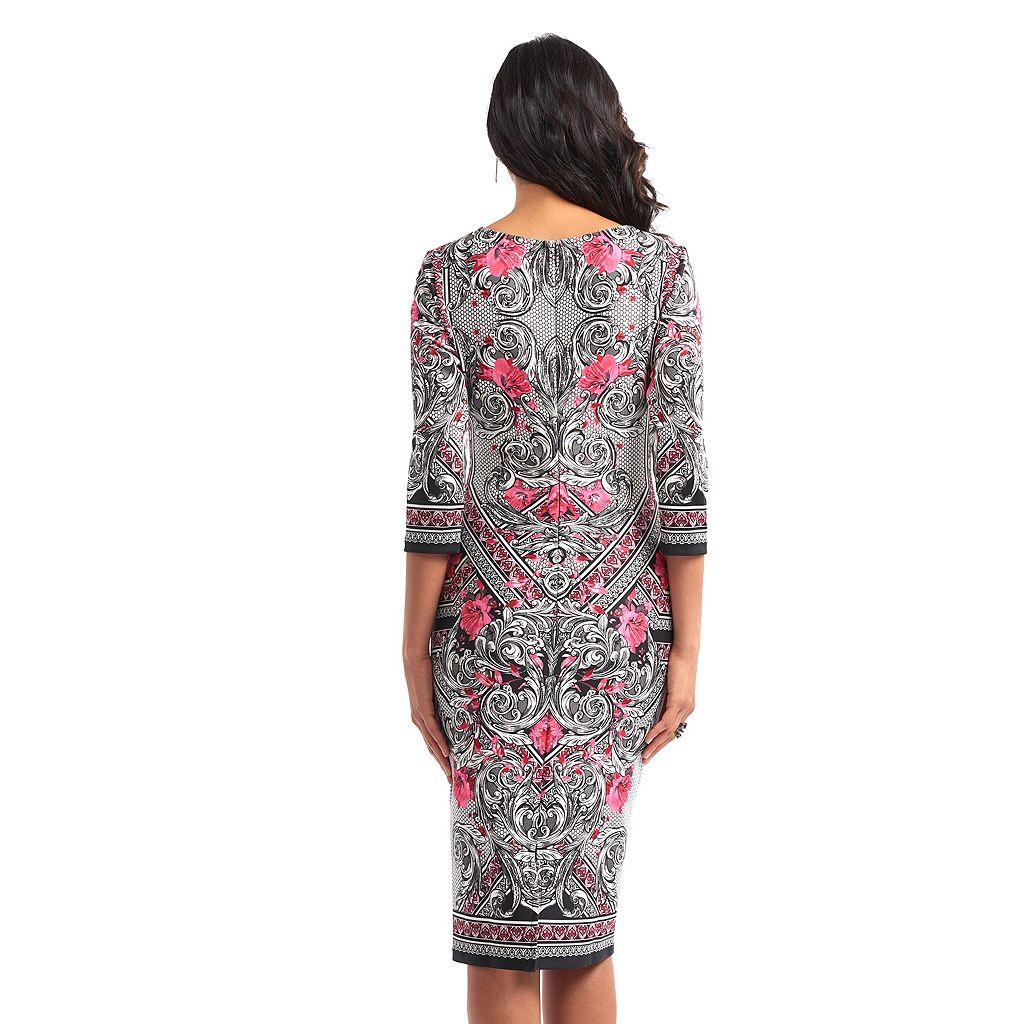 Women's Indication Printed Sheath Dress