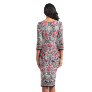 Women's Indication Printed Sheath Dress
