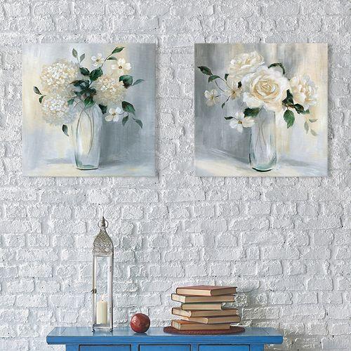 Artissimo Designs Carolina Springs Bouquet Canvas Wall Art 2-piece Set