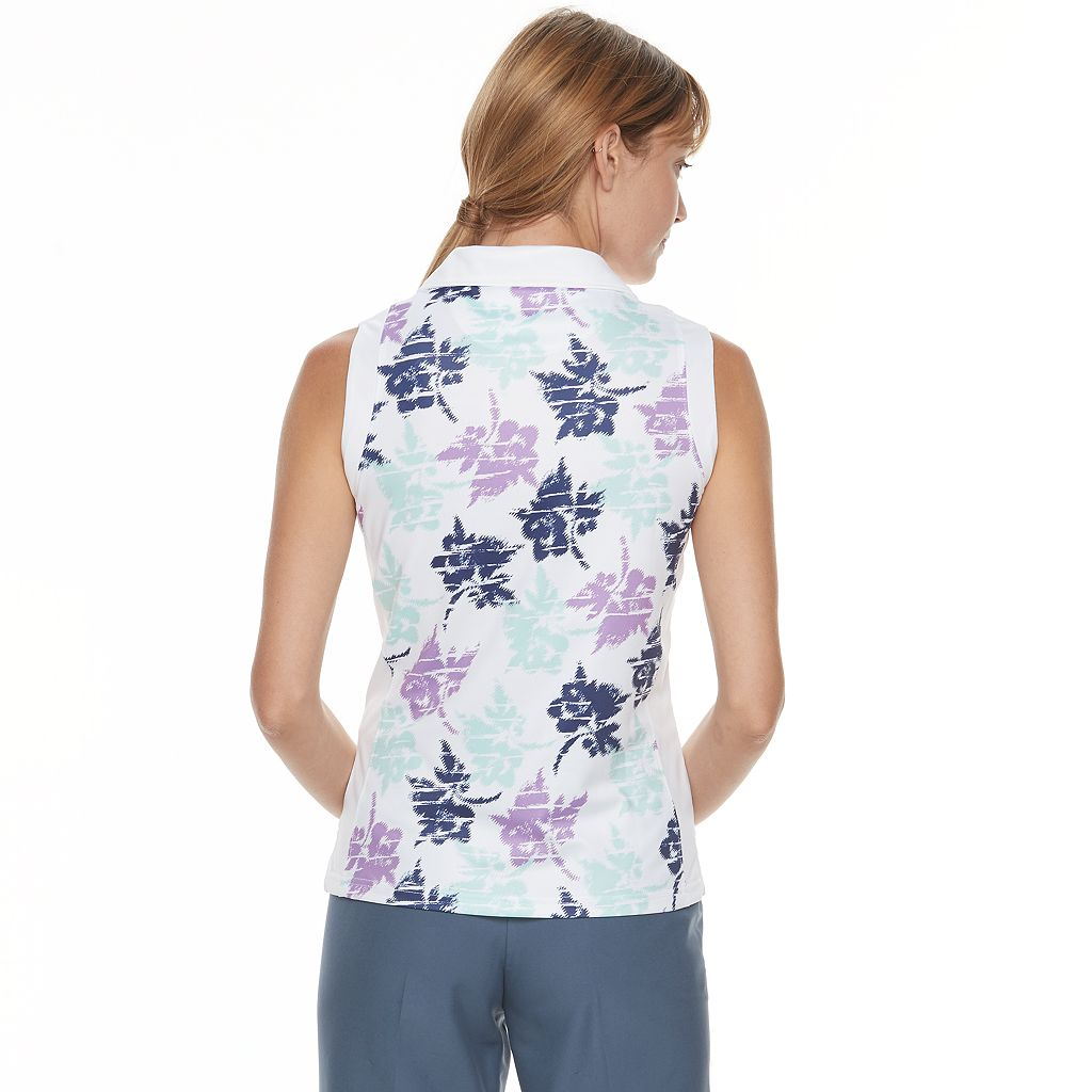 Women's Pebble Beach Floral Print V-Neck Top