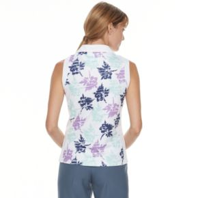 Women's Pebble Beach Floral Print V-Neck Top