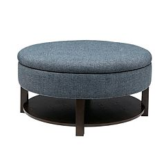 Madison Park Round Storage Ottoman