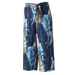 Women's WDNY Black Palm Culottes