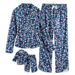 Girls 5-14 American Girl Button Down Top & Bottoms Pajama Set