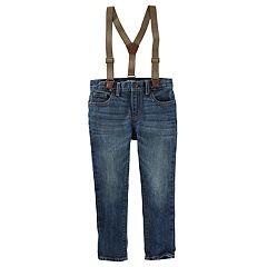 Boys 4-12 OshKosh B'gosh® Slim Fit Suspender Jeans