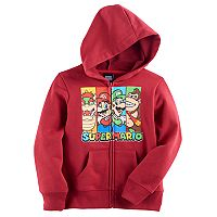 Boys 4-7 Super Mario Bros. Character Zip Hoodie