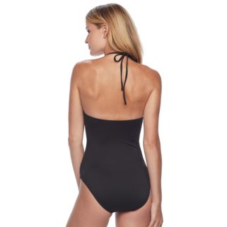 Women's Apt. 9® High-Neck One-Piece Swimsuit