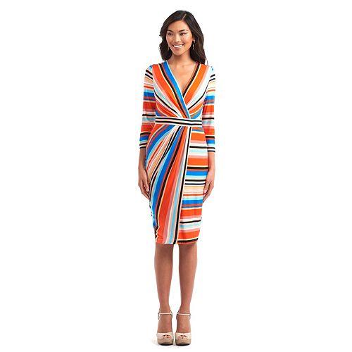 Women's Indication Asymmetric Faux-Wrap Sheath Dress
