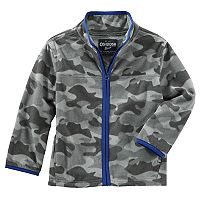 Boys 4-8 Carter's Camouflaged Fleece Zip Jacket