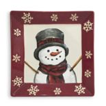 St. Nicholas Square® Yuletide Snowman Square Salad Plate