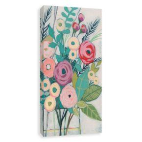 Artissimo Designs Soft Spring Bouquet I Canvas Wall Art