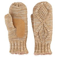 Women's isotoner Marled Cable Knit Mittens