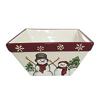 St. Nicholas Square® Yuletide Snowman Square Cereal Bowl