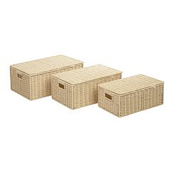 Honey-Can-Do 3 pc Paper Rope Storage Box Set