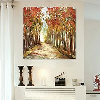 Artissimo Designs A Sunny Path Canvas Wall Art