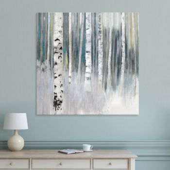 Artissimo Designs Winter Birch Canvas Wall Art