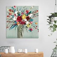Artissimo Designs Wild Flowers I Canvas Wall Art