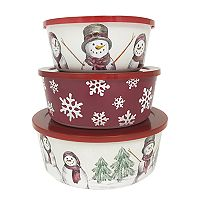 St. Nicholas Square® Yuletide 3 pc Melamine Stacking Container Set
