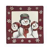 St. Nicholas Square® Yuletide Snowman Square Dinner Plate